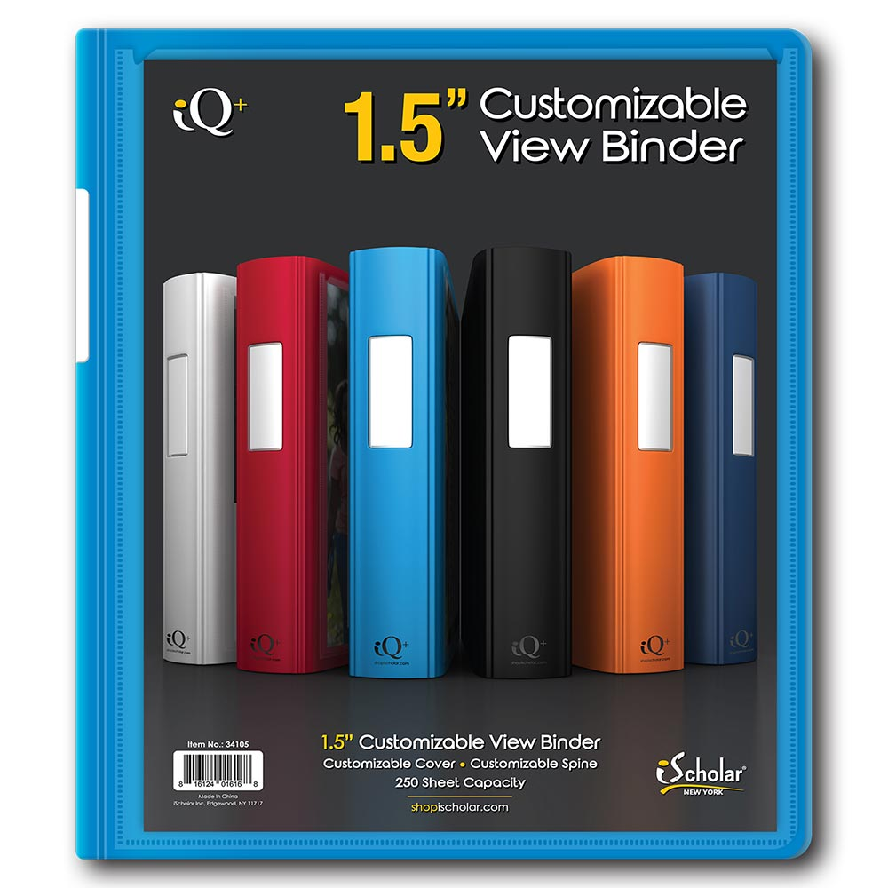 IQ+ 1.5 Inch Plastic Heavyduty Binder 34105