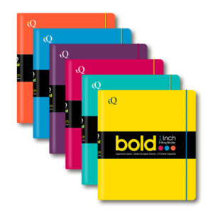 58200 Color Will Vary iScholar iQ Bold 1 Inch Neon Ring Binder